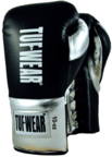 Tuf Wear Sabre Contest Boxing Gloves. Black/Silver