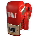Tuf Wear Sabre Contest Boxing Gloves. Red/Gold