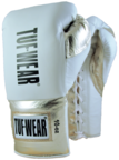 View the Tuf Wear Sabre Contest Boxing Gloves. White/Gold online at Fight Outlet