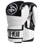 View the Tuf Wear Typhoon Training Boxing Glove Black/White online at Fight Outlet
