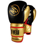 Tuf Wear Viking Leather Boxing Glove Black/Gold/Red