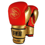 Tuf Wear Viking Leather Boxing Glove Red/Gold/Black