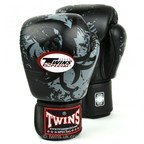 FBGV-36 Twins Black Tribal Dragon Boxing Gloves
