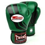 FBGV-43 Twins Green/Black Stripe Boxing Gloves